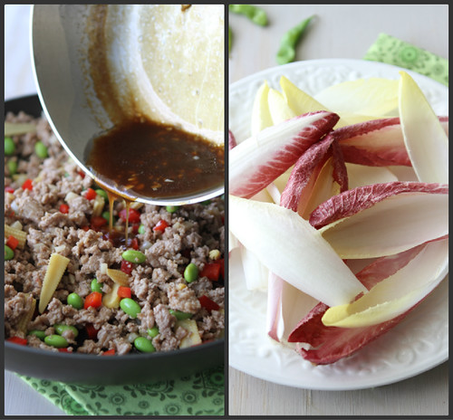 Endive Spears Stuffed with Teriyaki Turkey, Edamame & Baby Corn Recipe