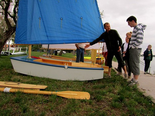 Wooden boat picnic and sailing event in Hungary