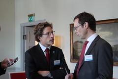 Mikael Anzen and Stein Paul Rosenberg speak during the coffee break