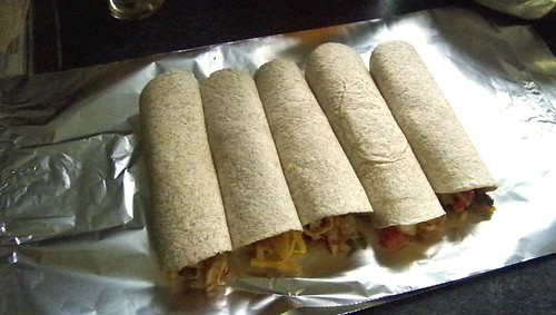 Chicken and Black Bean Burritos
