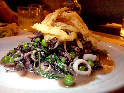 Black Rice Risotto at Bäco Mercat
