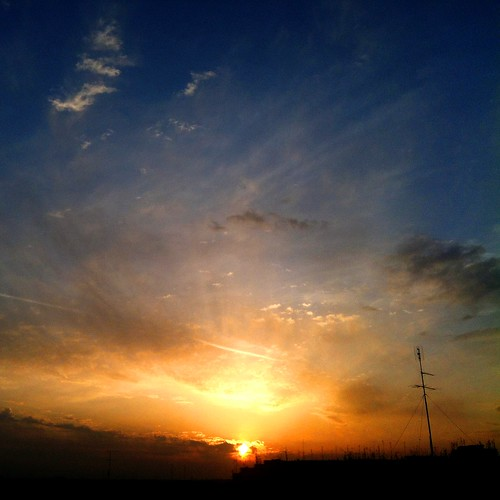 [フリー画像素材] 自然風景, 空, 雲, 朝焼け・夕焼け, 風景 - イタリア ID:201205141800