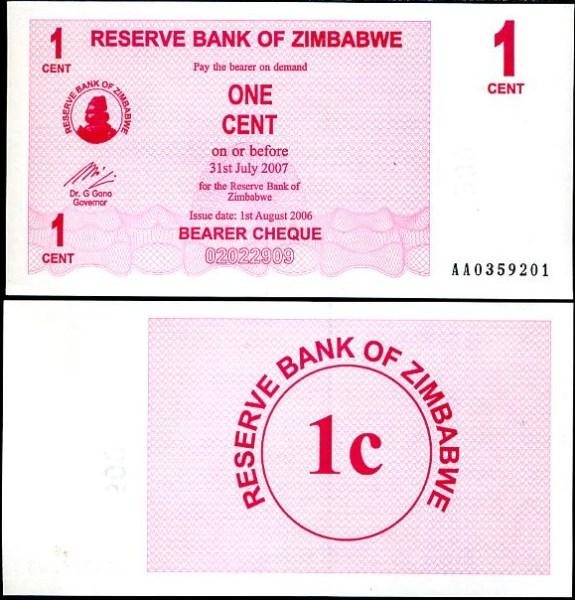 1 Cent Zimbabwe 2006, Pick 33