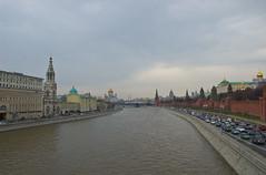 Vue sur la Moskova depuis le Pont Bolshoy Moskvoretsky