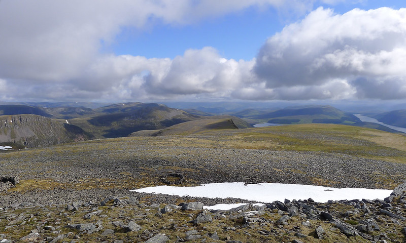 North from Ben Alder's summit