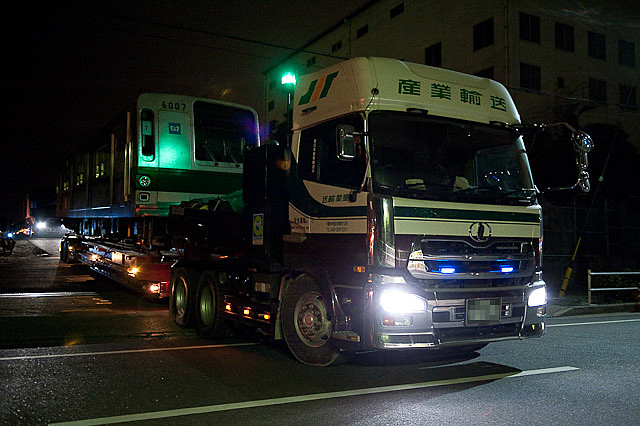 東京メトロ 千代田線 6000系 6107F 陸送