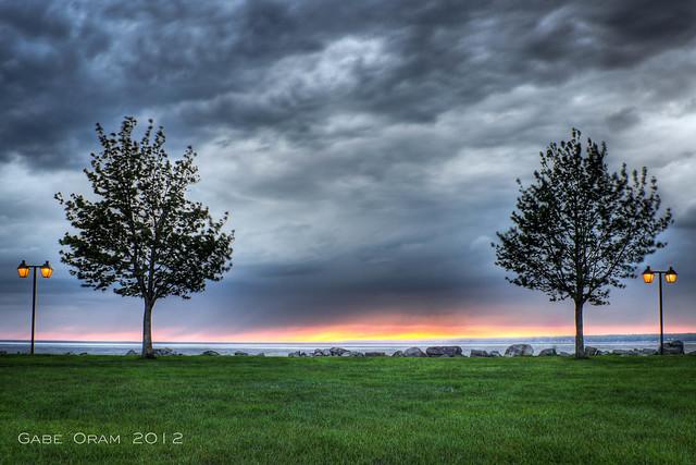 a windy sunset
