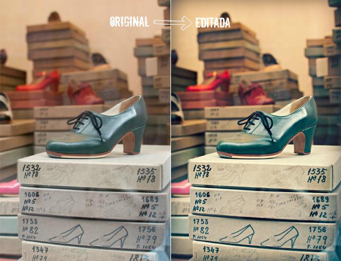 zapatos original y reditada