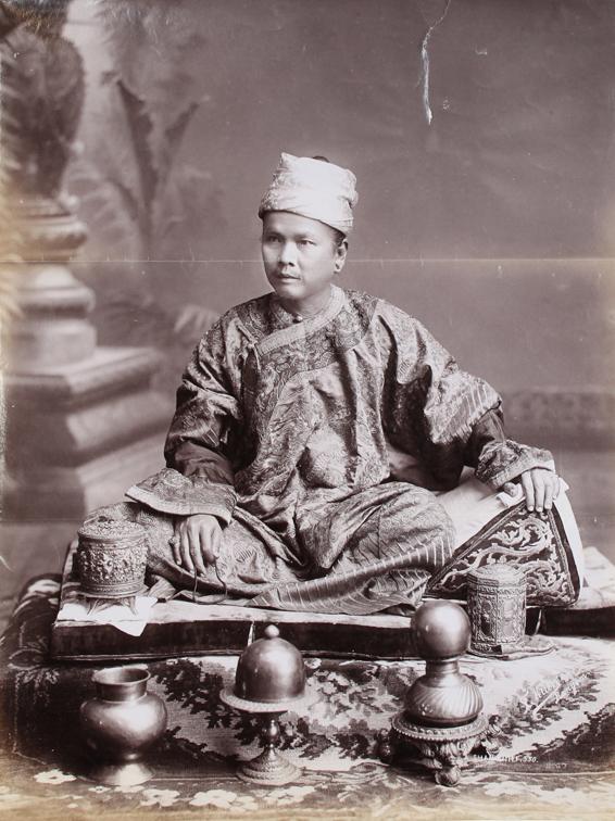 Shan Chief Sitting on Cushion