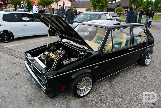 Worthersee Schiefling 2012, Black Golf mk1 from Italy