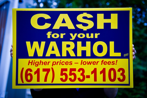 CA$H for your WARHOL sign