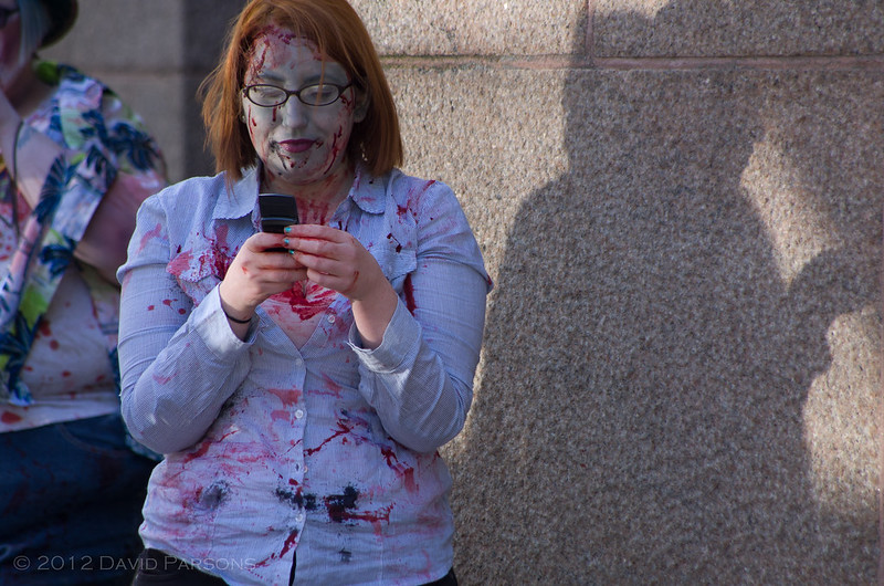 Boston Zombie March VIII - Undead text messaging