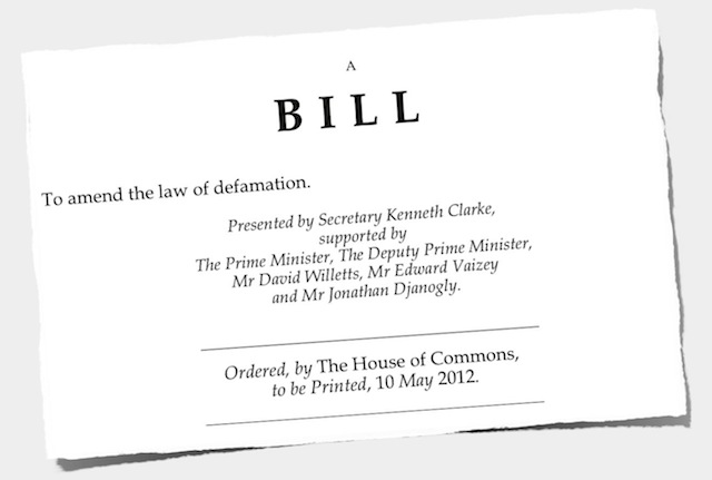 The Defamation Bill 2012