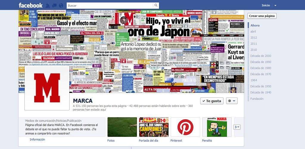 Facebook on Marca