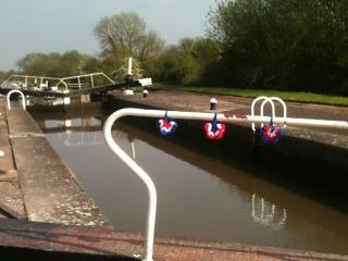 Hatton Locks, Nr Warwick. Our 'SIBOL' Yarnbombing!'