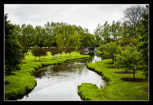 bridge green grass stone river landscape pond nikon university colgate 50mm18 d700