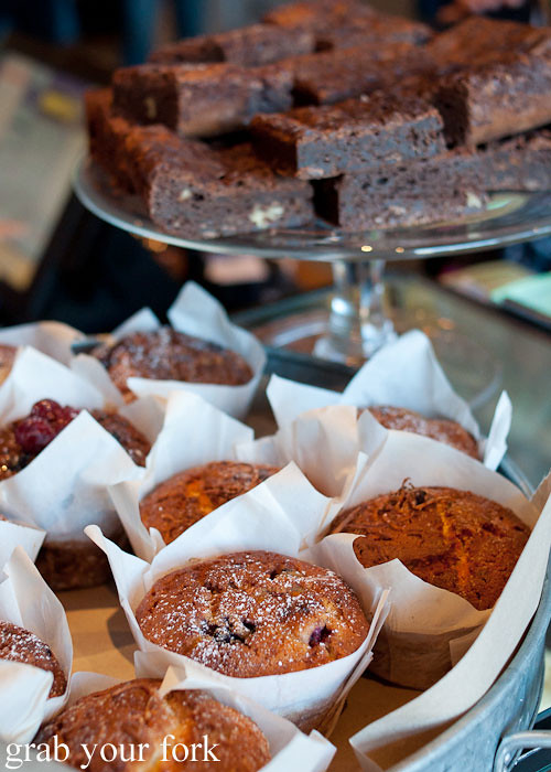 Muffins and brownies at The Grounds of Alexandria