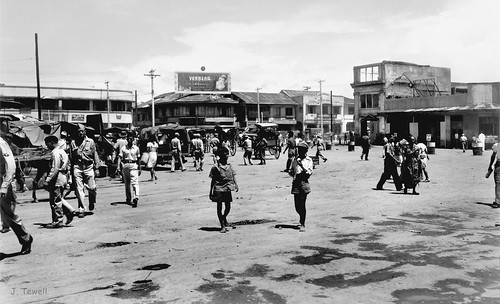 Plaza Miranda in front of Quiapo church, Manila, Philippines, 1945-1946