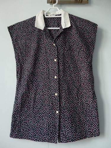 vintage polka dots top 2