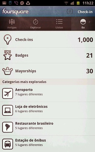 Foursquare - 1000 check-ins by Rogsil