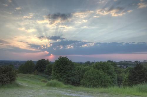 sunset sky sun clouds dusk norfolk norwich hdr eastanglia nikonflickraward