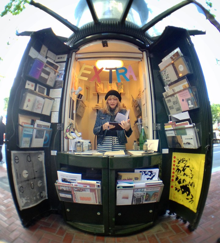 Newspaper Stand Designs : Edicola a pop up shop in former san francisco newspaper