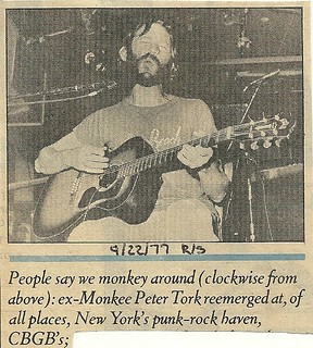 09-22-77 Rolling Stone Magazine (Peter Tork at CBGB)