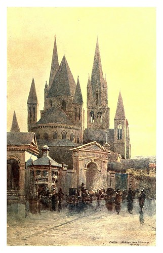 002-Caen catedral-Sketches on the old road through France to Florence-1905- Alexander Henry Hallam Murray