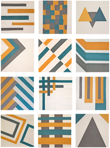 All 12 blocks from the Sew, Mama, Sew! Modern Block of the Month