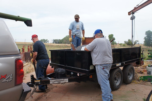 August, Vincent and Dan getting ready to haul our scrap iron away