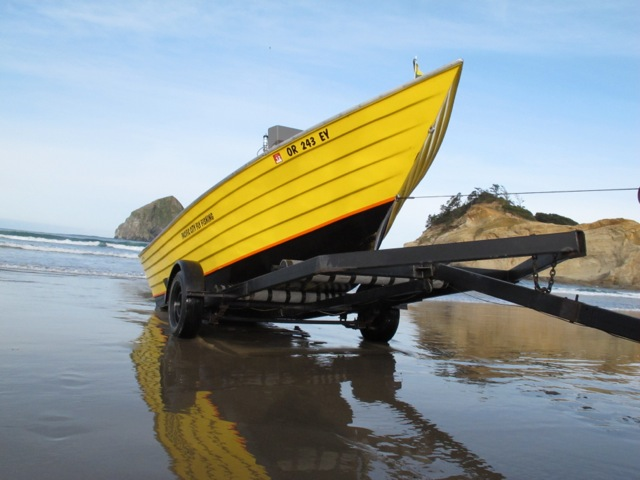 fly fishing the oregon coast in a pacific dory