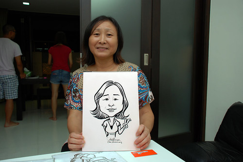 caricature live sketching for a birthday party - 3