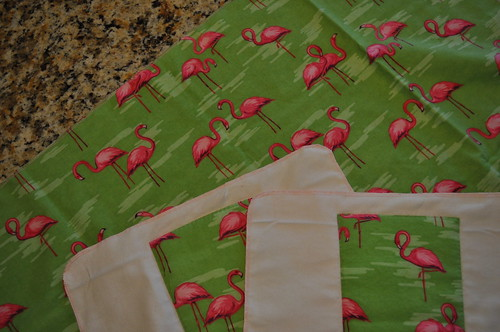 Serged Burp Cloths and Blanket