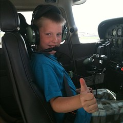 Big brother in the cockpit #youngeagle #swfl #adventurezinchildrearing