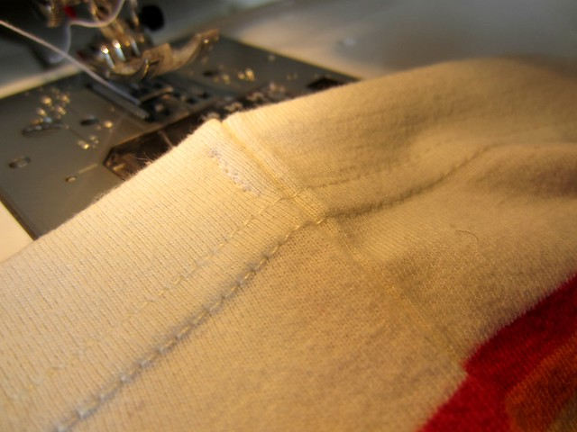 7 tacked seam