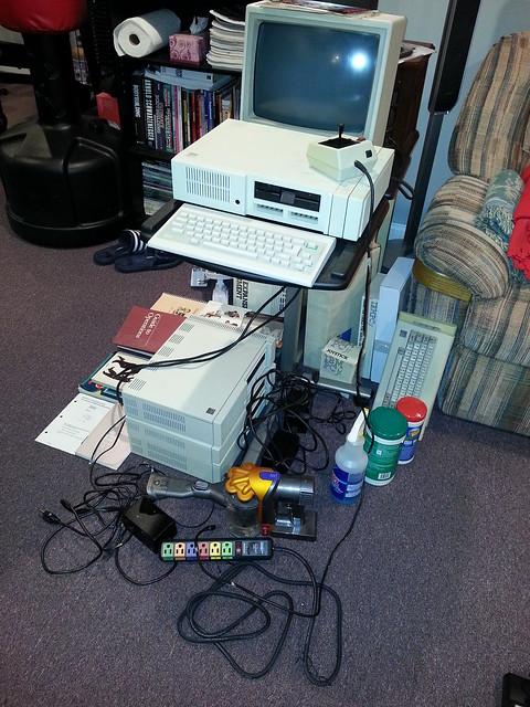 A mess o' IBM PCjr stuff, sans the boxed software.