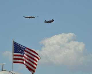 F-35 and P-38 Flight at Luke