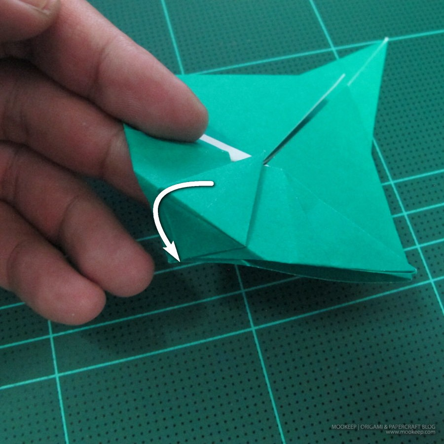 วิธีพับกระดาษเป็นรูปหมู (Origami Pig) 016