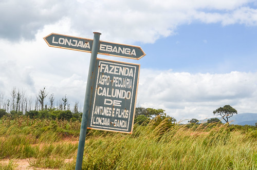Le chemin de terre à Ganda