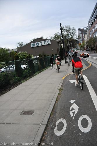 Bike Advisory Committee rides downtown-12