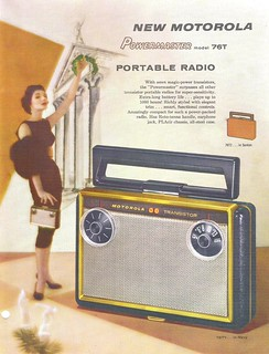 MOTOROLA Portable Radio Dealer Sheet Model Powermaster - 76T (USA 1957)_1