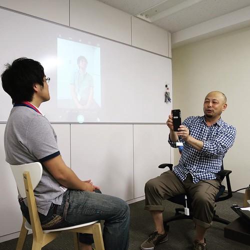 撮る時は、こう! #amn勉強会 #iphonegraphy #三井さん