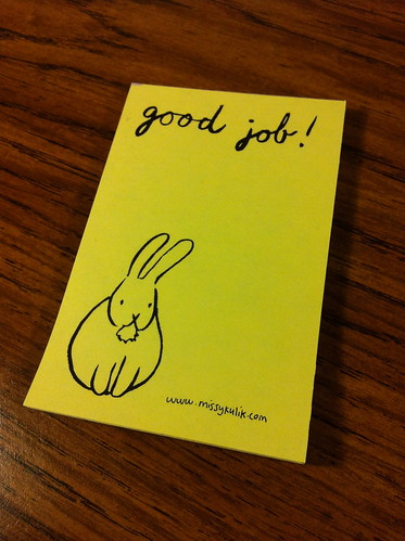 Good Job! Bunny Notepad that I made.