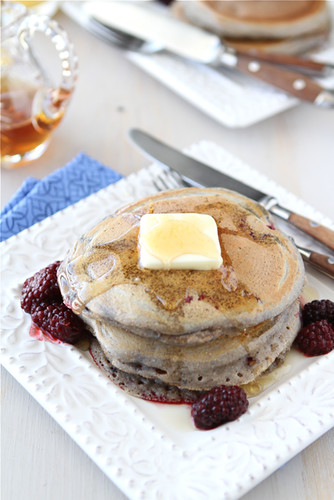 Cookin' Canuck - Whole Wheat Pancake Recipe with Ginger & Berries