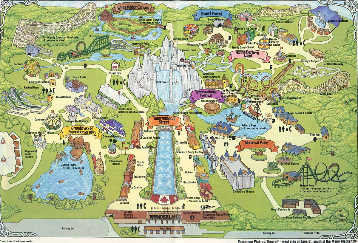 Map Of Canadas Wonderland 2017.The Canada S Wonderland I Remember Toronto Mike S Blog