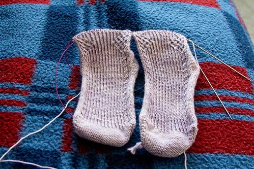 Tara mystery socks Clue 2