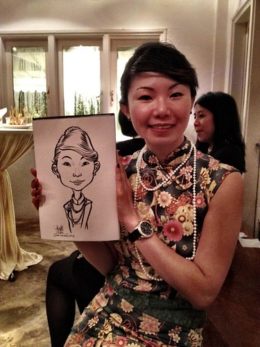 Caricature live sketching for Diageo Singapore Pte Ltd - 18