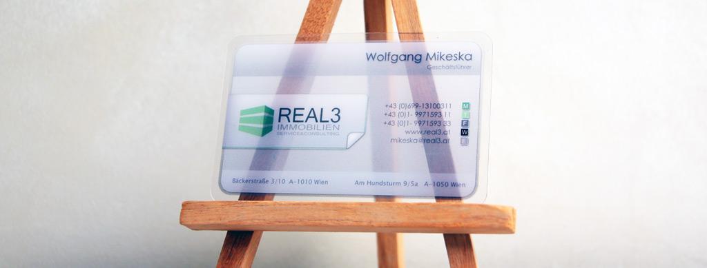 Real Visitenkarte Abgerundete Ecken Pvc Kristallklar Flickr