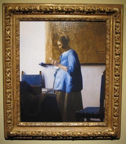「窓辺で手紙を読む女」1657-58 by Poran111