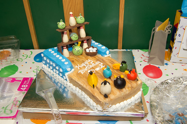35th Birthday - Angry Birds Cake